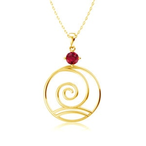 Elements Necklace Gold Wind (Ruby)