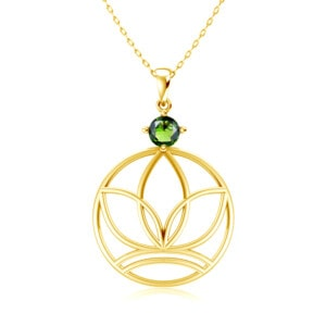 Elements Necklace Gold Earth (Peridot)