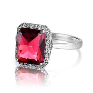 Revere Ring Silver (Ruby)