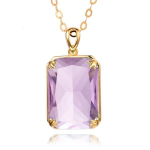Soleil Necklace Gold (Pink Tourmaline)