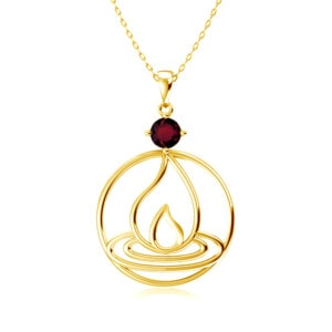 Elements Necklace Gold Fire (Garnet)