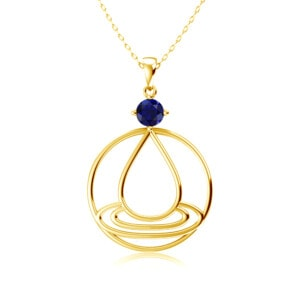 Elements Necklace Gold Water (Sapphire)