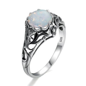 Lure Ring Silver (Opal)