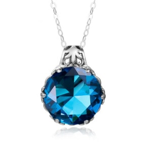 Essence Necklace Silver (Blue Topaz)