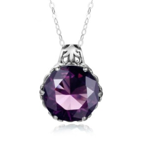 Essence Necklace Silver (Amethyst)