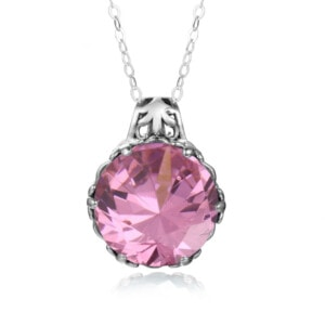 Essence Necklace Silver (Pink Tourmaline)