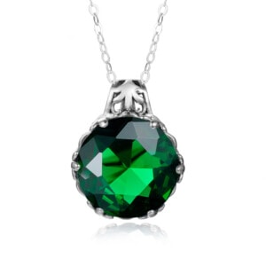 Essence Necklace Silver (Emerald)
