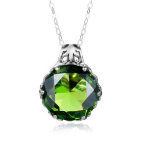 Essence Necklace Silver (Peridot)