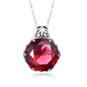 Essence Necklace Silver (Ruby)