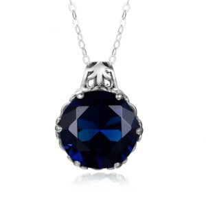 Essence Necklace Silver (Sapphire)
