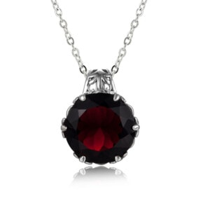 Essence Necklace Silver (Garnet)