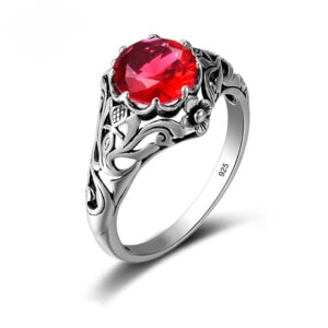 Lure Ring Silver (Ruby)