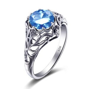 Lure Ring Silver (Blue Topaz)
