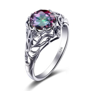 Lure Ring Silver (Mystic Fire Topaz)