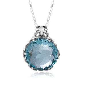 Essence Necklace Silver (Aquamarine)