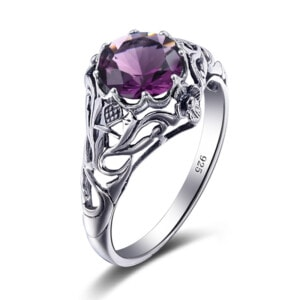 Lure Ring Silver (Amethyst)