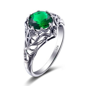 Lure Ring Silver (Emerald)