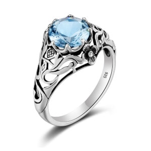 Lure Ring Silver (Aquamarine)