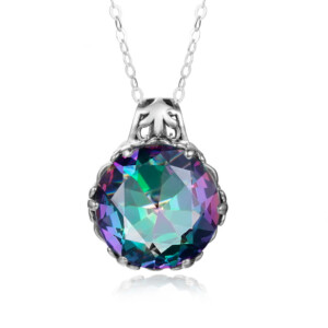 Essence Necklace Silver (Mystic Fire Topaz)