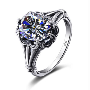 Bunched Love Ring Silver (Diamond)