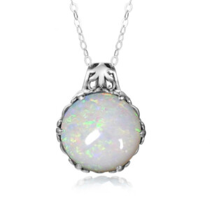 Essence Necklace Silver (Opal)