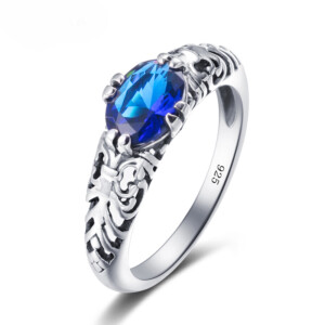 Belle Ring Silver (Sapphire)