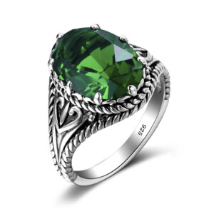 Beauty Ring Silver (Emerald)