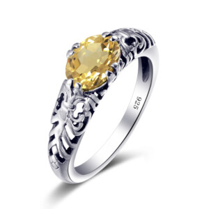 Belle Ring Silver (Topaz)