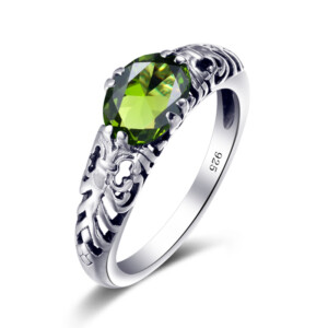 Belle Ring Silver (Peridot)