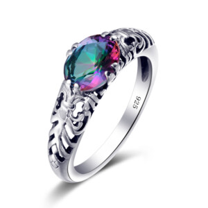 Belle Ring Silver (Mystic Fire Topaz)
