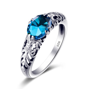 Belle Ring Silver (Blue Topaz)