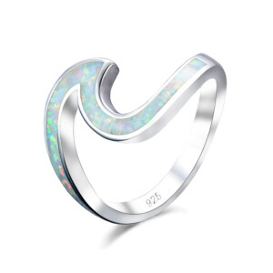 Wave Ring (White Opal)