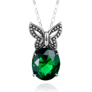 Miss Flutter Necklace (Emerald)