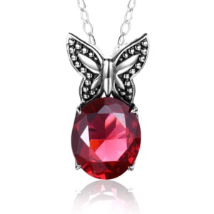 Miss Flutter Necklace (Ruby)