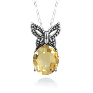 Miss Flutter Necklace (Topaz)