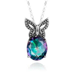 Miss Flutter Necklace (Mystic Fire Topaz)