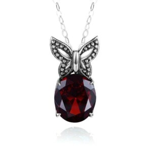 Miss Flutter Necklace (Garnet)