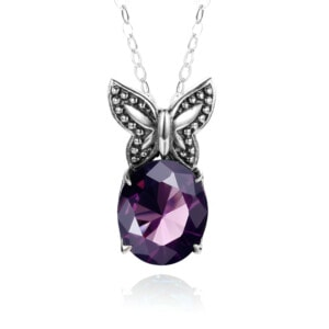 Miss Flutter Necklace (Amethyst)
