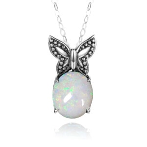 Miss Flutter Necklace (Opal)