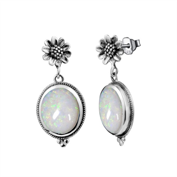 Blossom Earrings Silver (Opal)