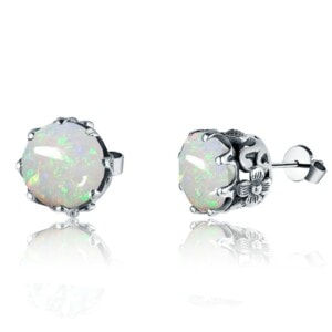 Lure Stud Earrings Silver (Opal)