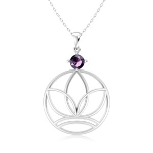 Elements Necklace Silver Earth (Amethyst)