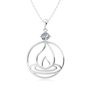 Elements Necklace Silver Fire (Diamond)