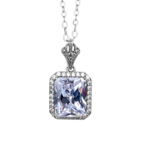 Revere Necklace Silver (Diamond)