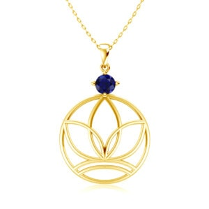 Elements Necklace Gold Earth (Sapphire)
