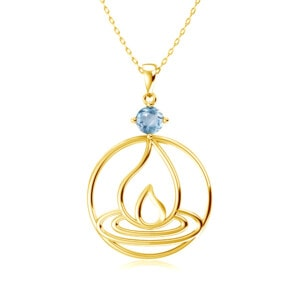 Elements Necklace Gold Fire (Aquamarine)