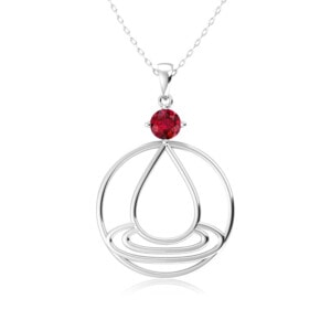 Elements Necklace Silver Water (Ruby)