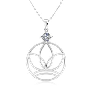 Elements Necklace Silver Earth (Diamond)