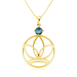 Elements Necklace Gold Earth (Mystic Fire Topaz)