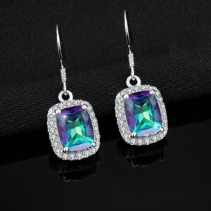 Dazzler Earrings Silver (Mystic Fire Topaz)